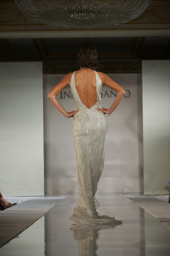 2012 wedding dress trends- deep v backs, Ines di Santo