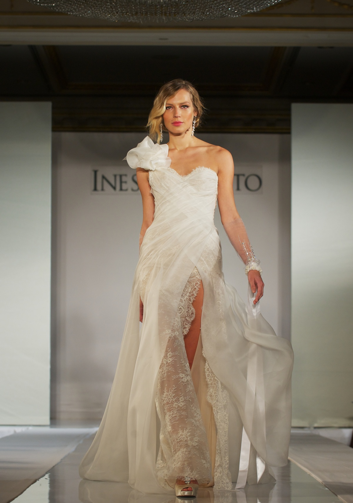 2012 wedding dress trends gowns with slits and sleeves With ines di santo wedding dress