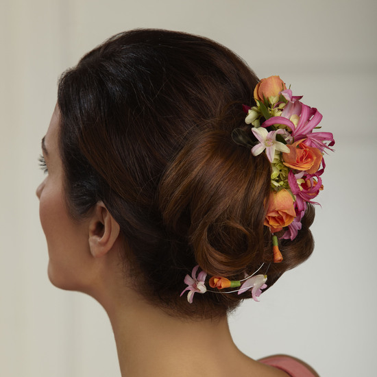 Flowers in Brides Hair