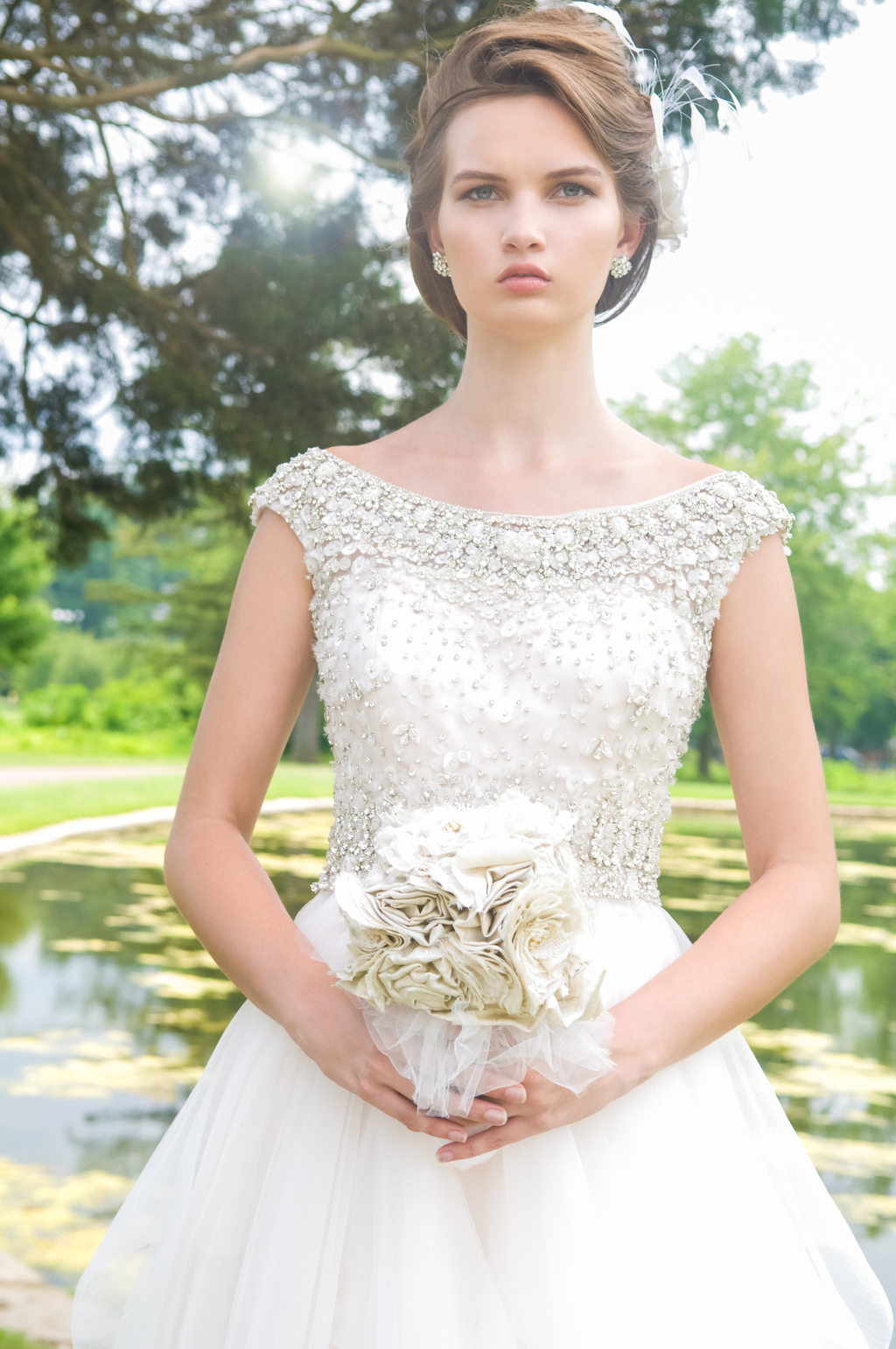 Beaded Eugenia Couture Wedding Dress