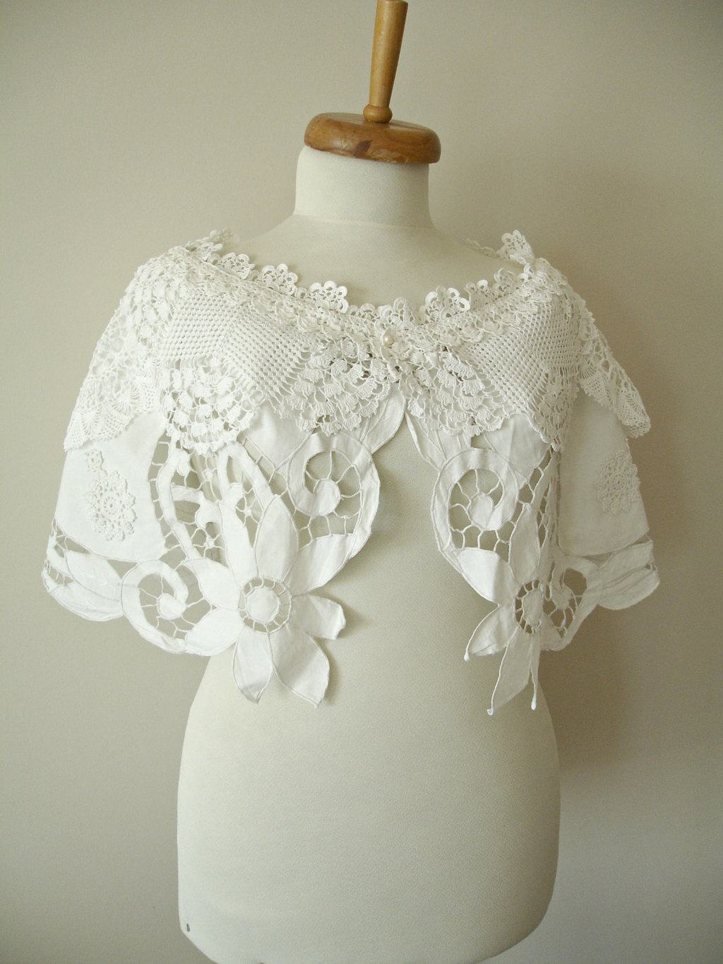 Upcycled-ivory-bridal-caplet-with-crochet-details.full
