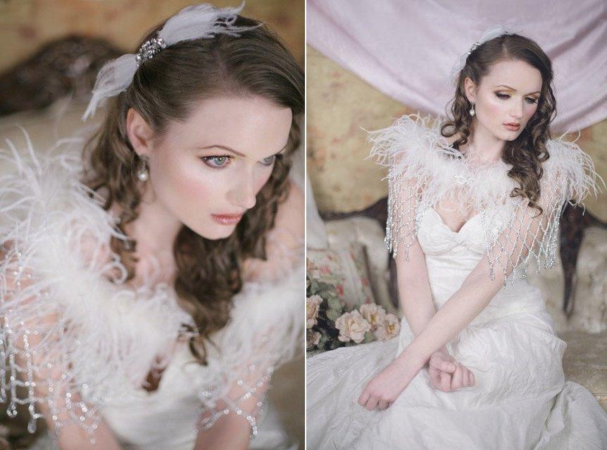 Beaded-fringe-and-feather-wedding-cape.full