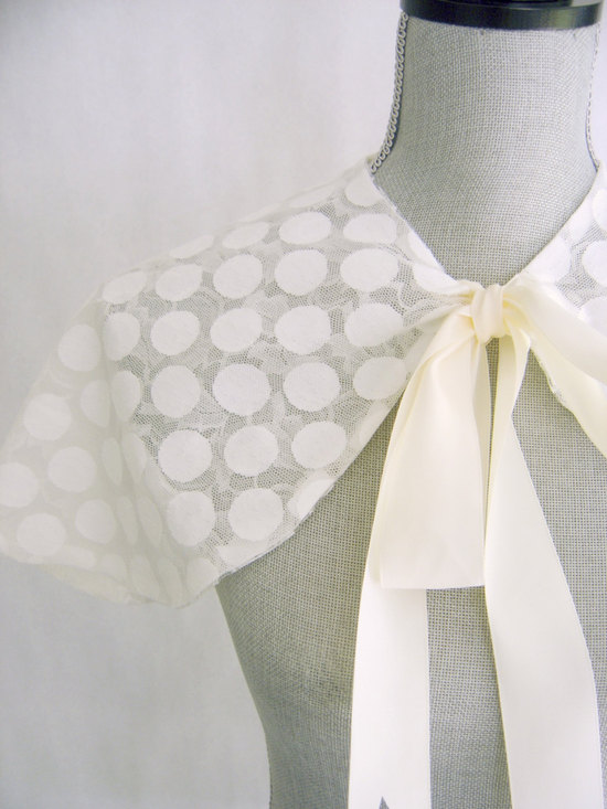 dotted ladylike bridal capelet