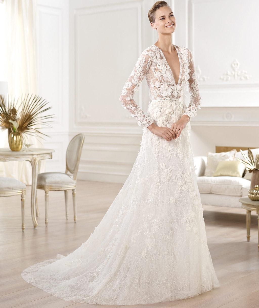 Elie Saab Wedding Dress 2014 Pronovias Bridal Crux