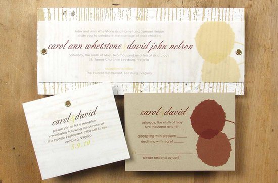 Earth-friendly wedding invitations- 1