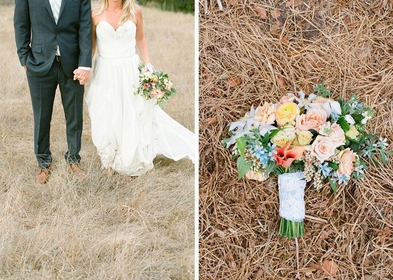 whimsical elopement wedding bouquet