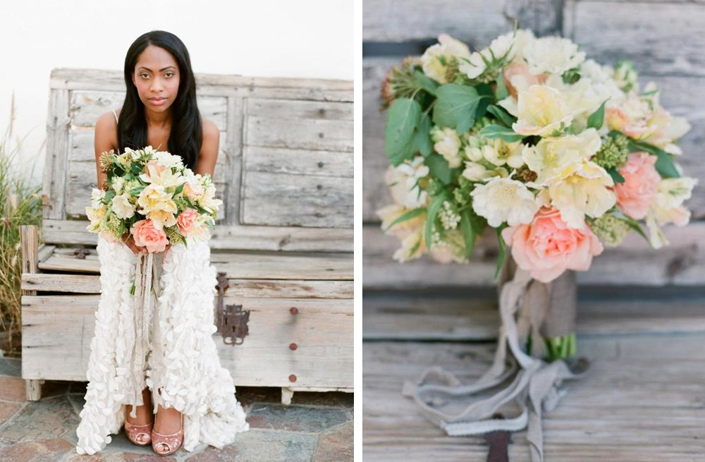 Pale-yellow-and-coral-romantic-wedding-bouquet.full
