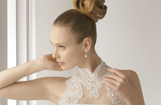 Wedding Hair Inspiration: Elegant Bun, Rosa Clara wedding dress