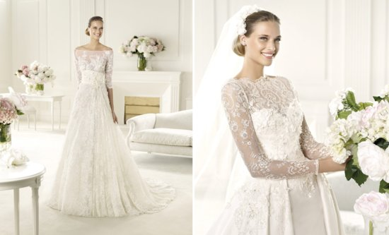 Elie Saab 2014 wedding dresses from Pronovias bridal