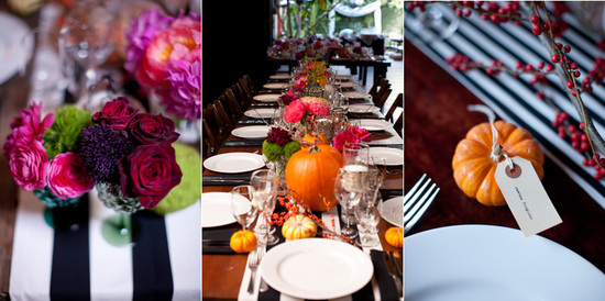 Fall wedding on Halloween- gorgeous wedding flowers