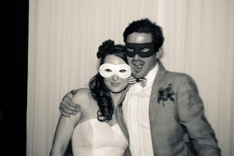 Fall wedding on Halloween- bride and groom dress up at reception