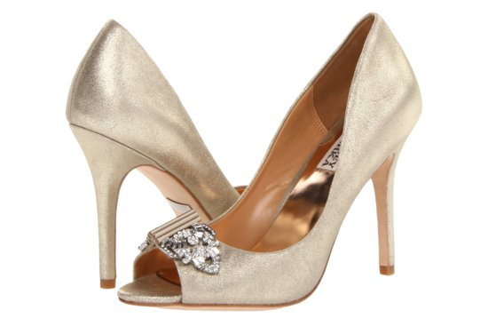 Glamorous gold wedding shoes Badgley Mischka Davida 2