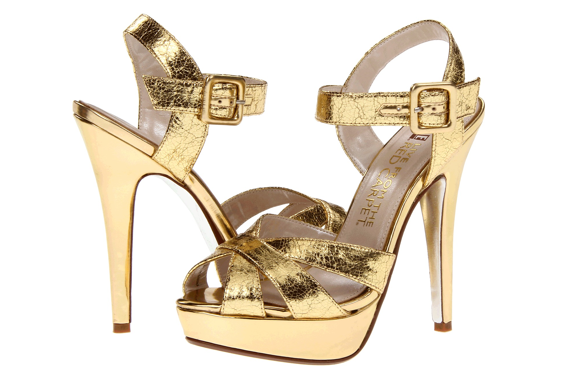 Glamorous gold wedding shoes E Live from the Red Carpet ...