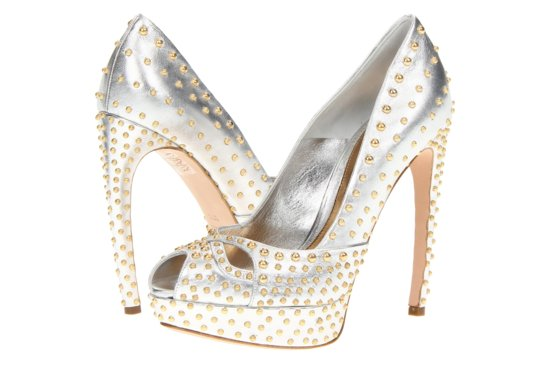 Glamorous gold wedding shoes Alexander McQueen