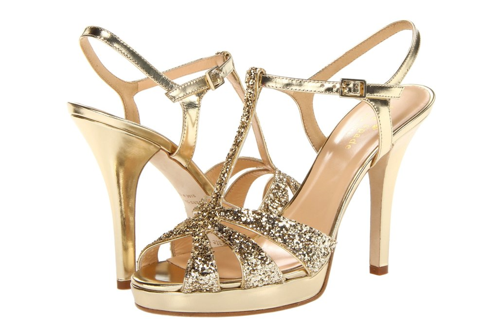 Glamorous gold wedding shoes kate spade rosie junglespirit Image collections
