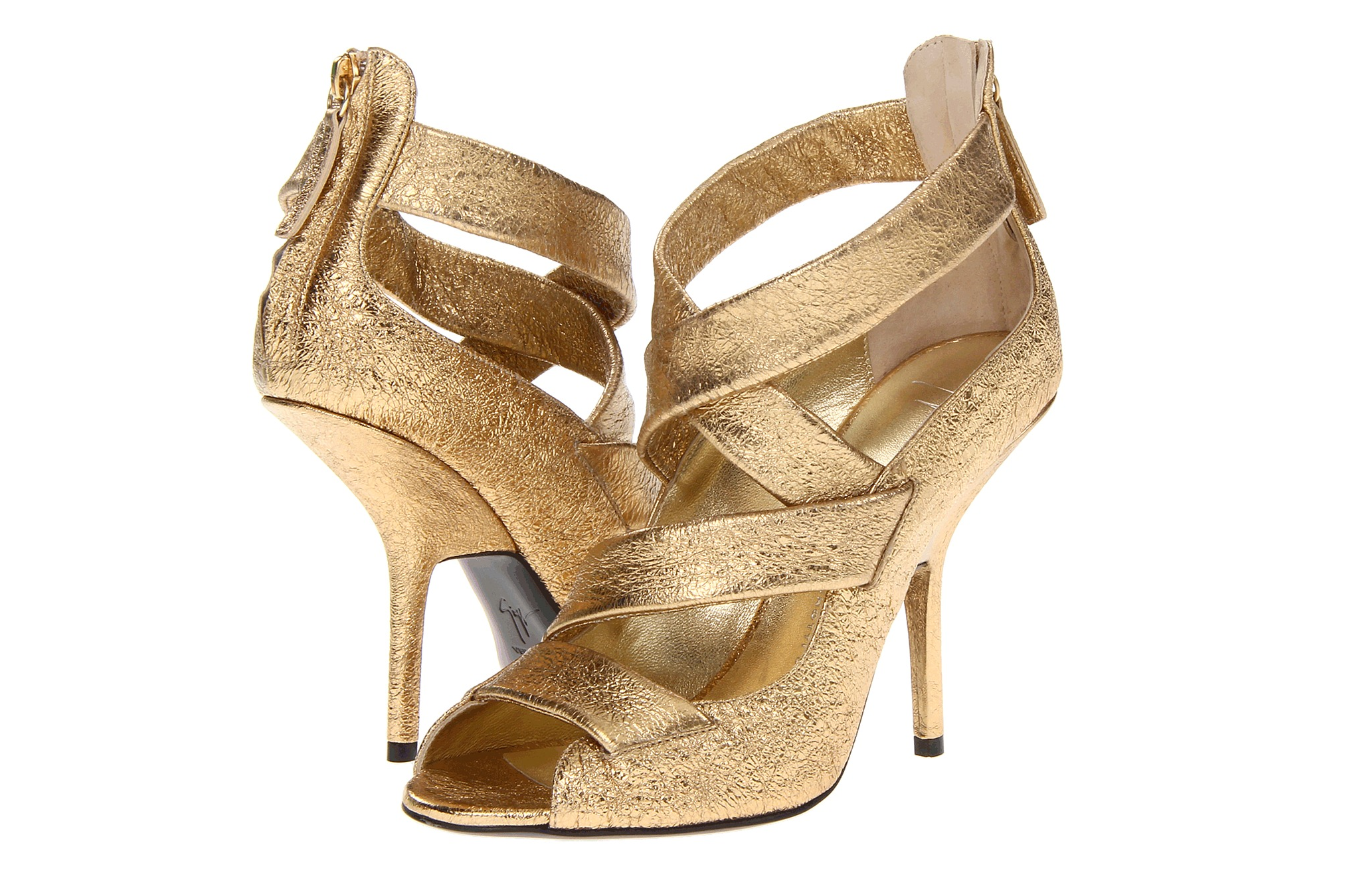 Glamorous gold wedding shoes Giuseppe Zanotti | OneWed.com