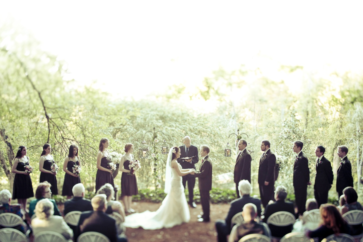 Fall Wedding In Georgia Outdoor Ceremony
