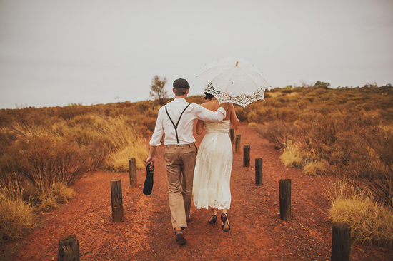 photo of spiritual elopement in Australia real wedding inspiration 4