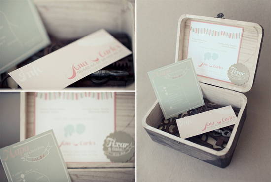 pastel boxed wedding invitation set
