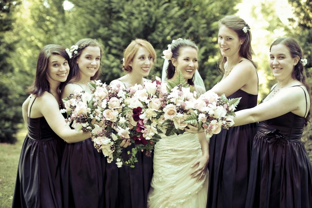 Real-fall-wedding-bridal-bouquet-eggplant-purple-bridesmaids-dresses.full