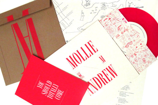 red and ivory interactive wedding invitations
