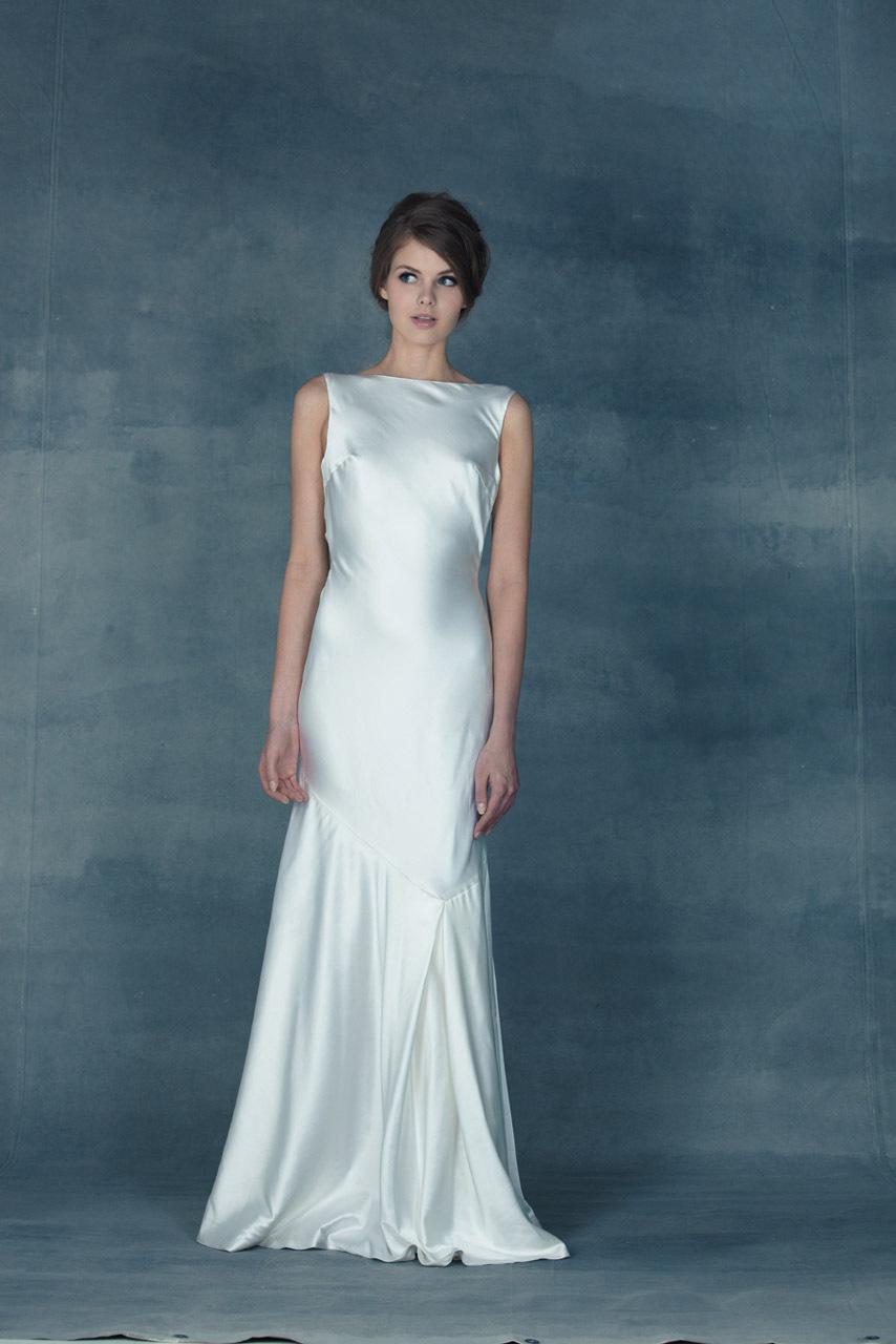 Silk Vintage Wedding Dress