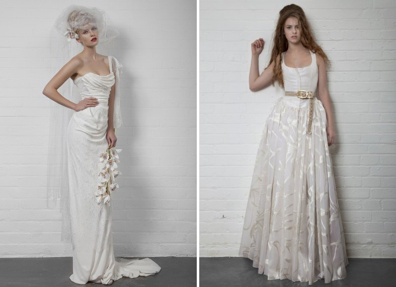 peach wedding dress by Vivienne Westwood