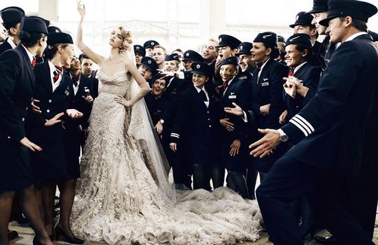 photo of Elie Saab couture beaded mermaid wedding dress