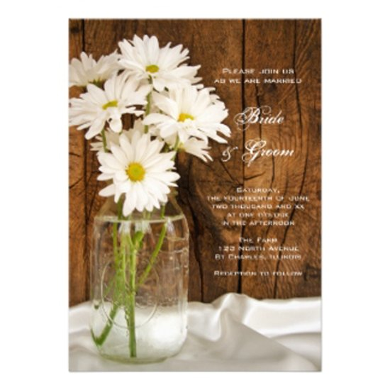 one wed mason jar white daisies