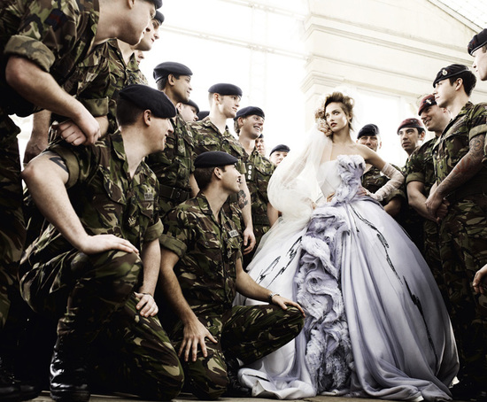 photo of Dior Haute Couture lavender wedding dress