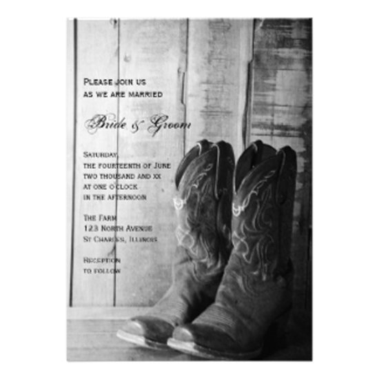 one wed rustic cowboy boots