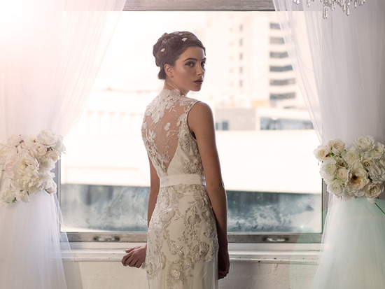 Statement back wedding dress by sarah janks