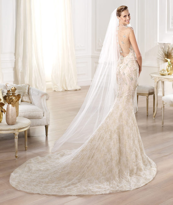 Elegant Statement Back Mermaid Wedding Dress