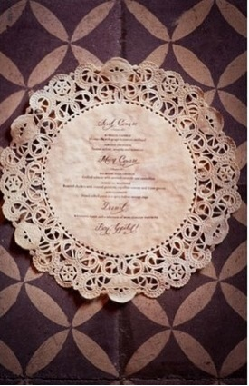 Menu Printed on a Doily