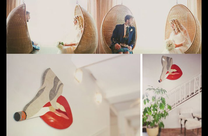 Retro California wedding venue