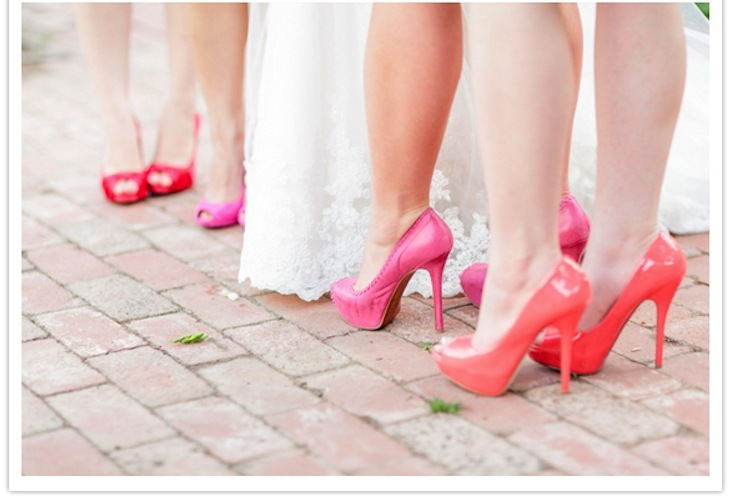 Bright-pink-and-coral-bridesmaid-shoes.full