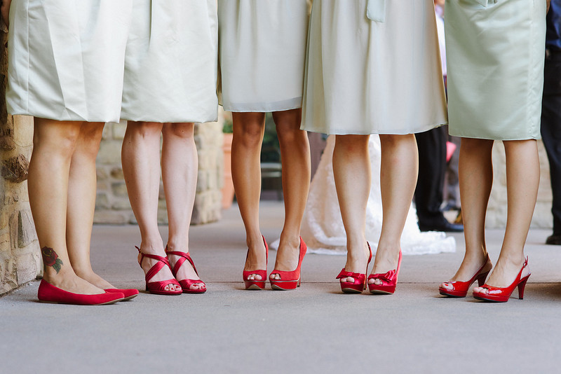 Bright-red-bridesmaid-shoes-with-mint-green-dresses.full