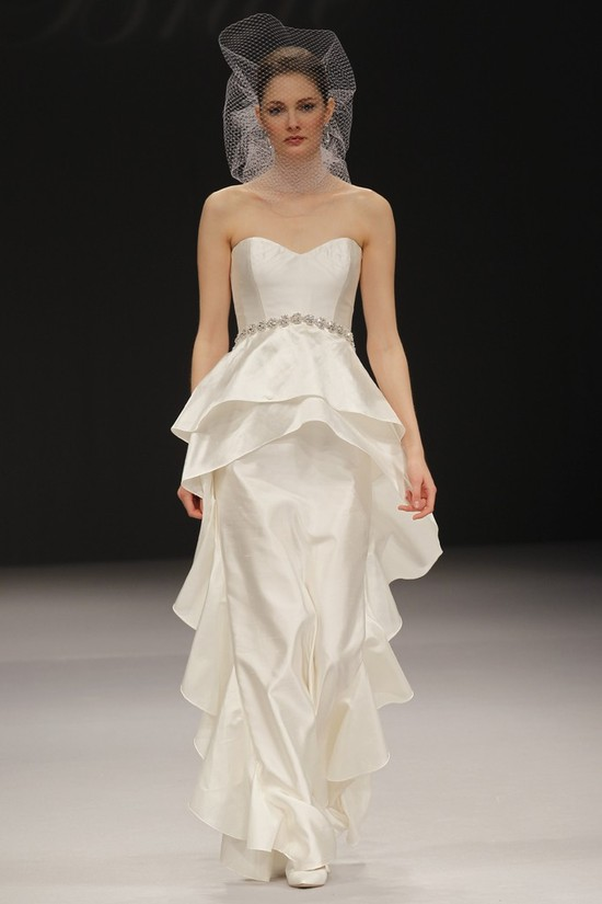 2012 wedding dress trend, peplums- Badgley Mischka Bride