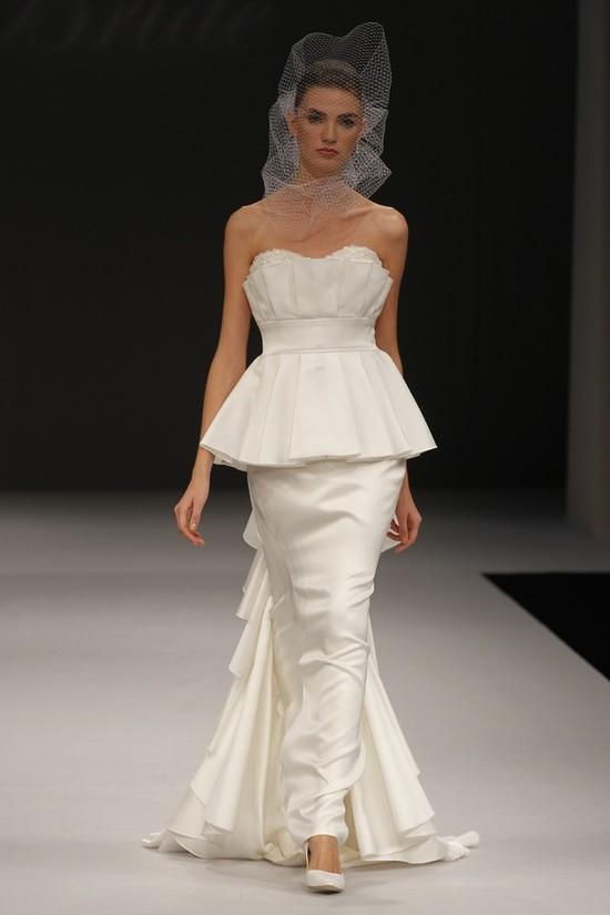 2012 wedding dress trend, peplums