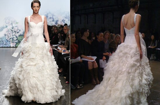 Monique Lhuillier Fall 2012 wedding dresses- whimsical drop-waist a-line gown