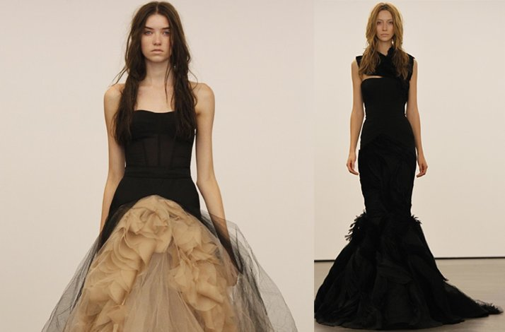 Vera Wangs Black Wedding Dress Collection