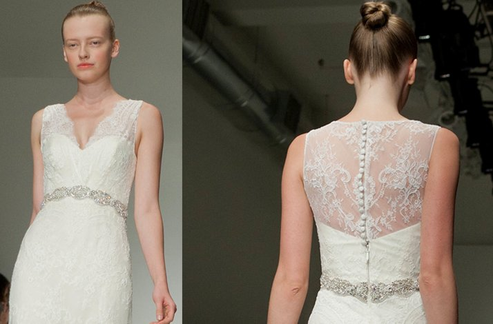 Lace wedding dress, Christos Fall 2012