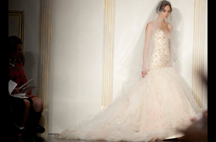 Final bridal look for Lazaro, Fall 2012