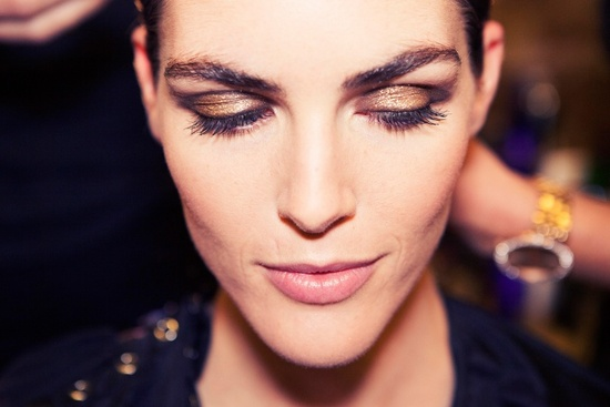 Jason Wu wedding makeup inspiration glittery bronze lids
