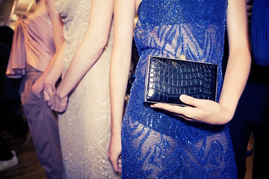 Something Blue croc clutch for brides