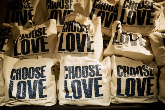 Peter Som Choose Love totes
