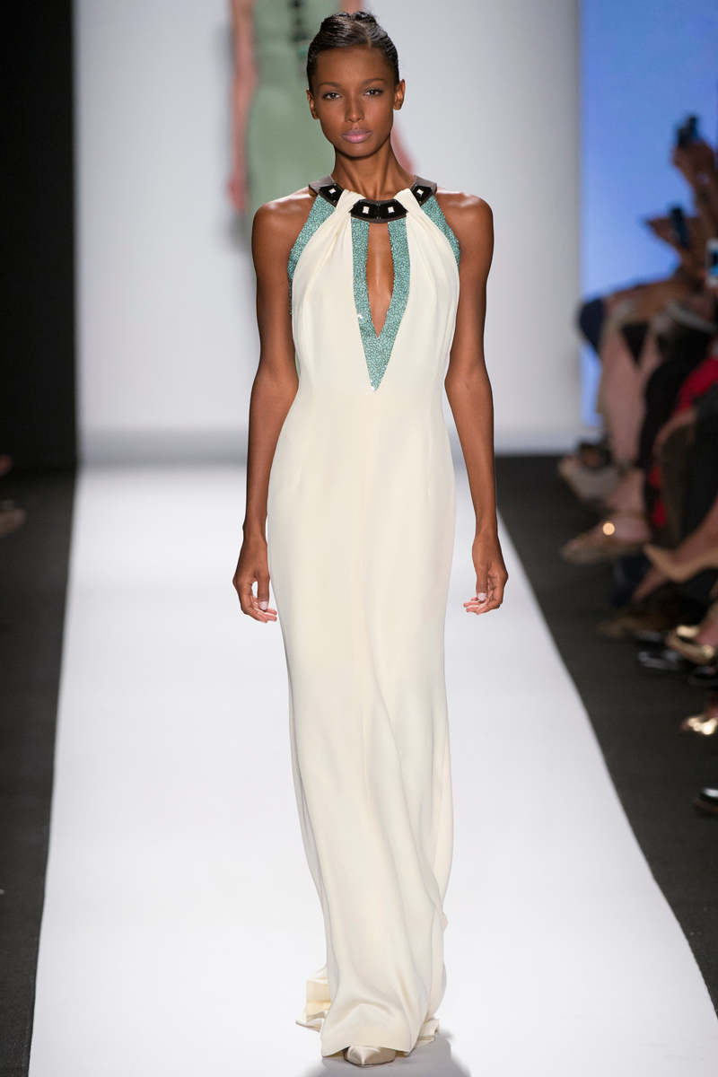 Carolina Herrera Spring 2014 RTW - Halter gown with statement neckline