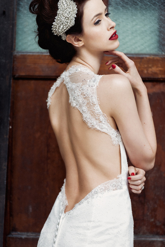 Charlotte Balbier open back wedding dress - Nellie