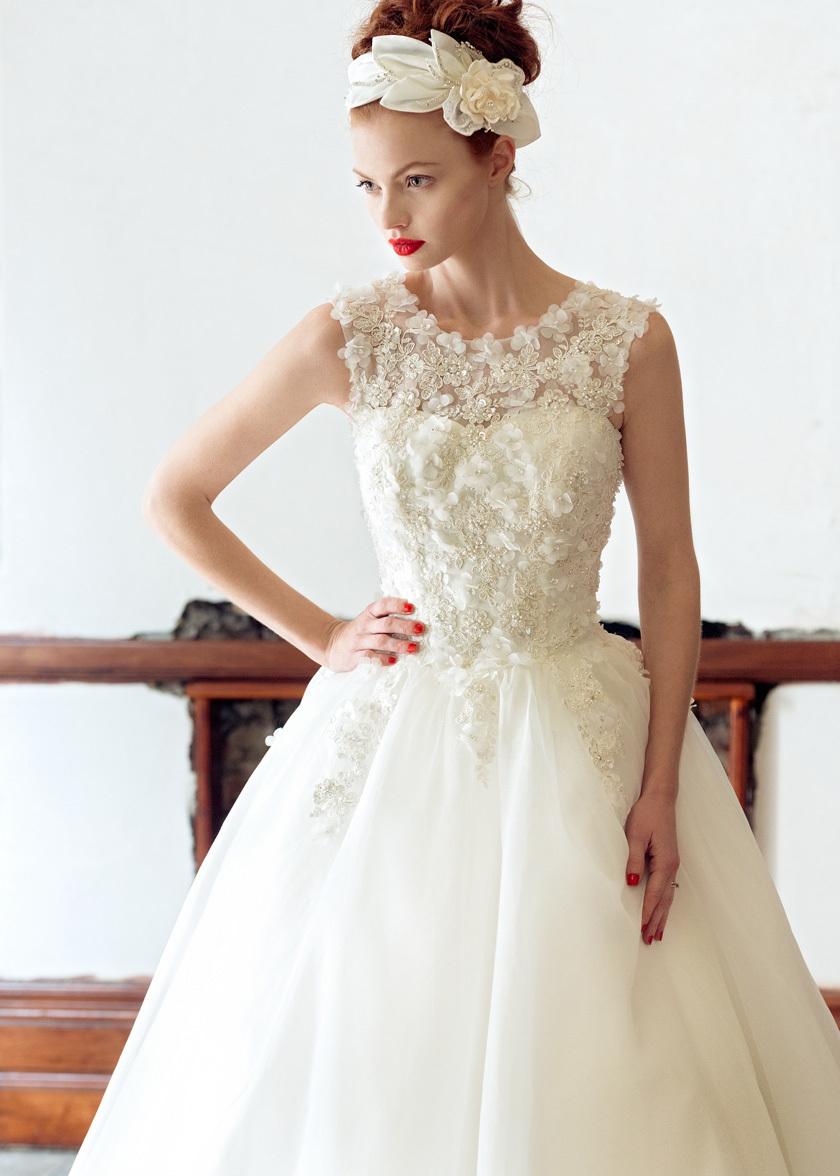 Rose wedding dress by charlotte balbier 2014 bridal for Wedding dress charlotte nc