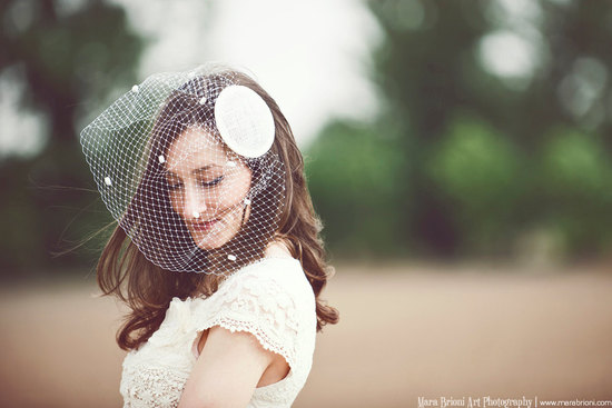 Blusher birdcage veil for vintage brides